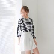 Wrinkle swing skirt