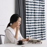 NSCR/ 1마/ 8월달력] Stamp calm waves pattern cotton