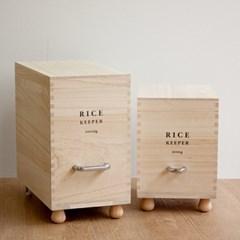 마메종 우드 라이스키퍼 천연목 쌀통 5kg