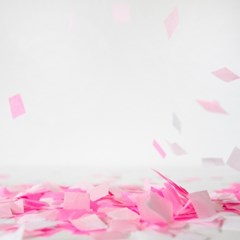Pink Girl Bomb-Confetti 파티 종이 꽃가루