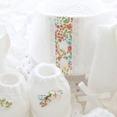 유기농 잔꽃무늬 배냇저고리SET 만들기