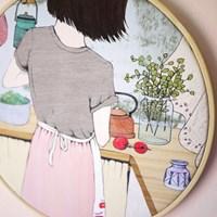 수틀 액자-그녀의 키친