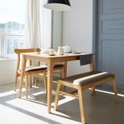 비아K 4인 식탁세트 / 벤치, 의자