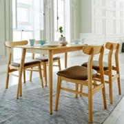 비아N 4인 식탁세트 / 의자
