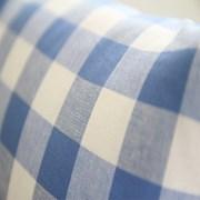 체크 선염쿠션-블루