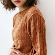 Deep color twist knit