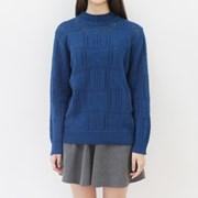 Square hole vintage knit