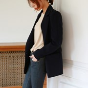 One-button simple jacket