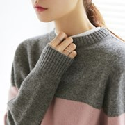 Color point wool knit