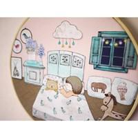 수틀 액자-아기의 방