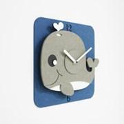 입체무소음벽시계-KD22/고래