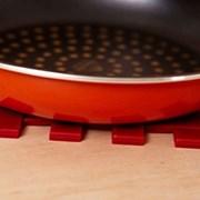 쿠킹 집밥 레드타탄실리콘 냄비받침 1P