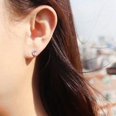 [925 실버]초승달 귀걸이=ER231