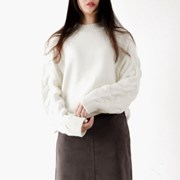 raglan cable knit top