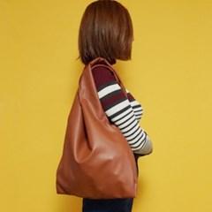 (깅엄버스)심플 레더백 카멜simpeul leather bag camel
