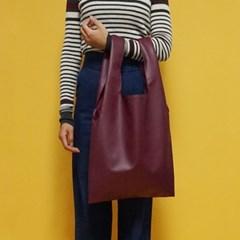 (깅엄버스)심플 레더백 와인simpeul leather bag wine