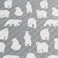 [바이빔]북극곰 극세사 전기요[소형]