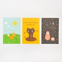 왈가닥스 비프렌드 포스트카드 엽서 - owl