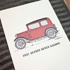 (전구증정) 1937 오스틴 세븐 살롱 포스터