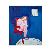 Girl on a Red Chair