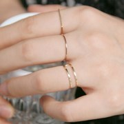 14k gold two line ring
