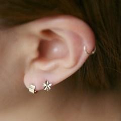 10k gold flower ring earring