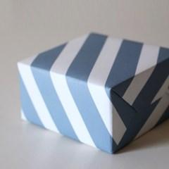 클래식리본 블루 포장지