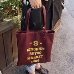 [깅엄버스]레트로레더백와인Retro Leatherbag wine