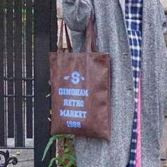 [깅엄버스]레트로레더백브라운Retro Leatherbag brown