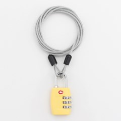 [TCUBE] TSA 3다이얼 자물쇠+멀티 안전케이블 - 2.5M