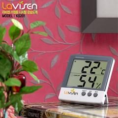 라비센(LAVISEN) 디지털 온습도 KS-201 (외부온도측정)