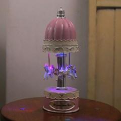 회전목마 LED 오르골-260(H)mm