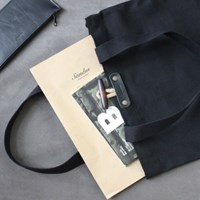 Canvas Toggle Bag - Black