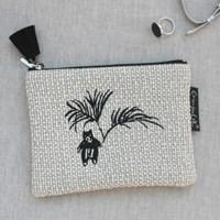 Knit check_White bear pouch(s)