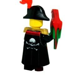 레고피규어의상 Leese Miniclothes M14 해적선장코트