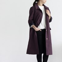 [Fabric]Autumn Washing Solid Linen Deep-Purple