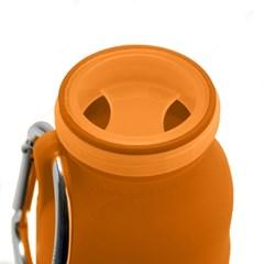 New부비바틀 다용도실리콘물병450ml(오렌지)