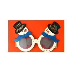 Party glasses/chrismas card