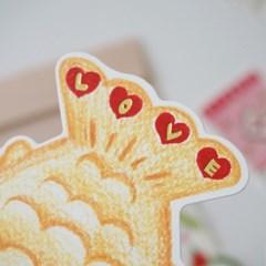 수줍은 붕어빵 카드