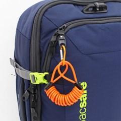 [TCUBE] 여행용 안전 코일 케이블 + 컬러비너 - 1.2M