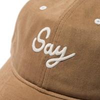SAY BALL CAP - BROWN_(773253)