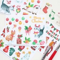 마넷 컷팅스티커 set - 크리스마스