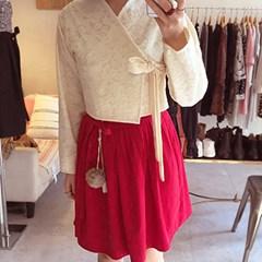 [다함한복] 레드벨벳 생활한복 허리치마