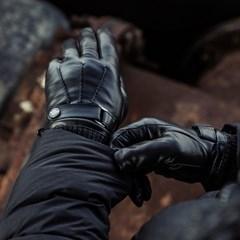[사르토르] 신슐레이트 풀터치 삼선 가죽장갑 블랙(Black)