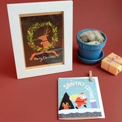 SANTA & RUDOLPH CHRISTMAS Card