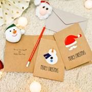 크리스마스 윈터 크래프트 카드7p set