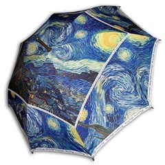 [ART] Hello RainCats 고흐_별이 빛나는 밤1(W) 자동 우산