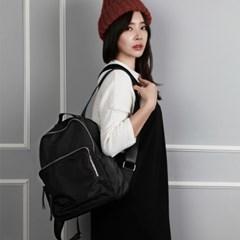 Glam black leather Back pack