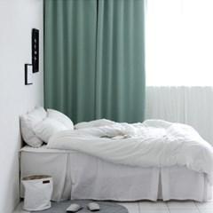 [Curtain] 3중 솔리드 암막커튼(그린)