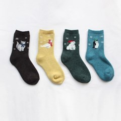 [1+1] angora animal socks